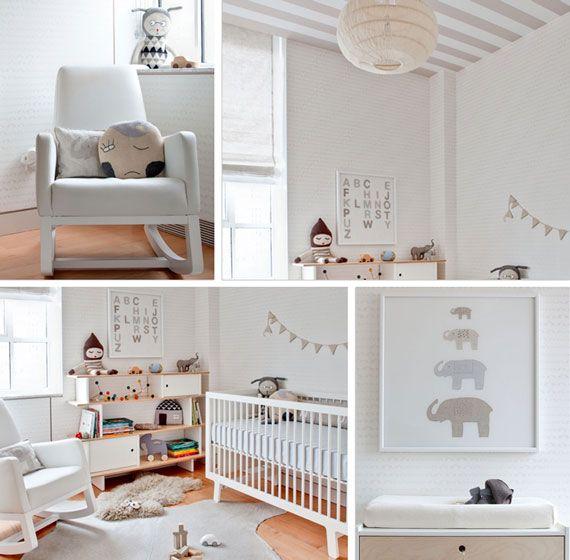All white nursery, with white Monte Design Joya Rocker! #laylagrayce #nursery