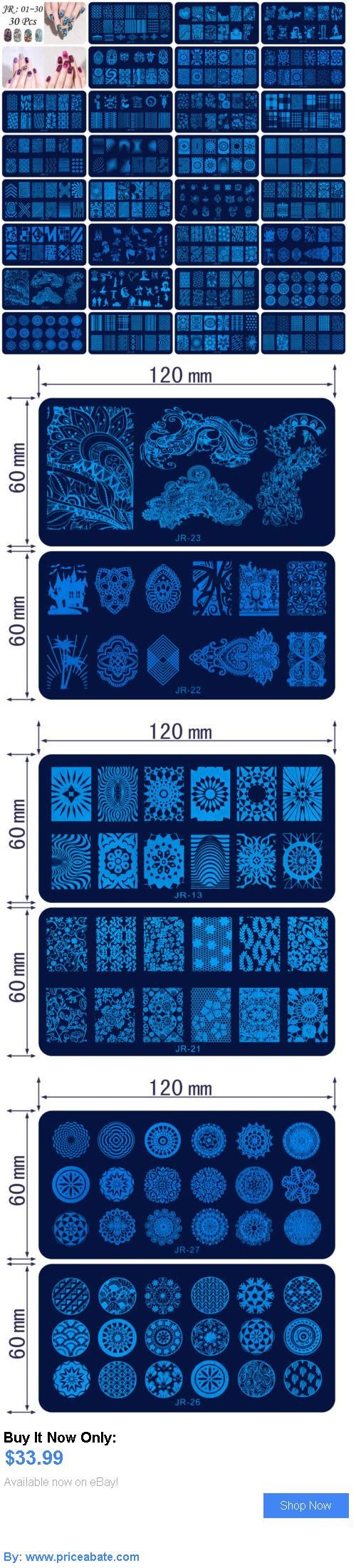 Nails: 30Pcs Manicure Jr Nail Stamping Plates Stainless Steel Nail Art Stamp Templates BUY IT NOW ONLY: $33.99 #priceabateNails OR #priceabate