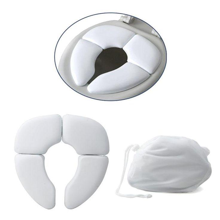 White Portable Folding Baby Toilet Seat - NewBorn & Mom