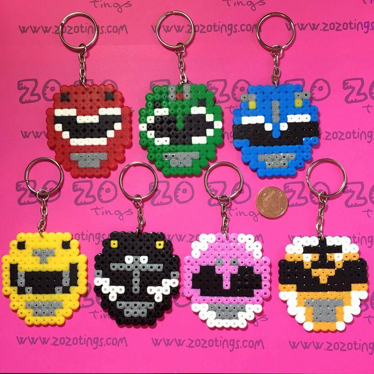 Power Rangers Pixel Keyrings
