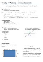 Totally 10 Solving Equations - Resources - TES