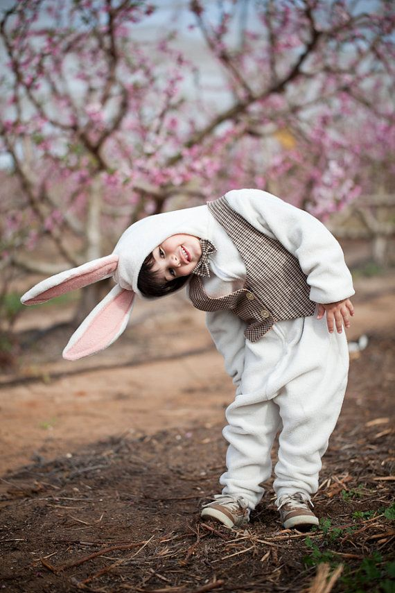 White rabbit costume for Easter Baby Costume by ThumbelinaWorkshop