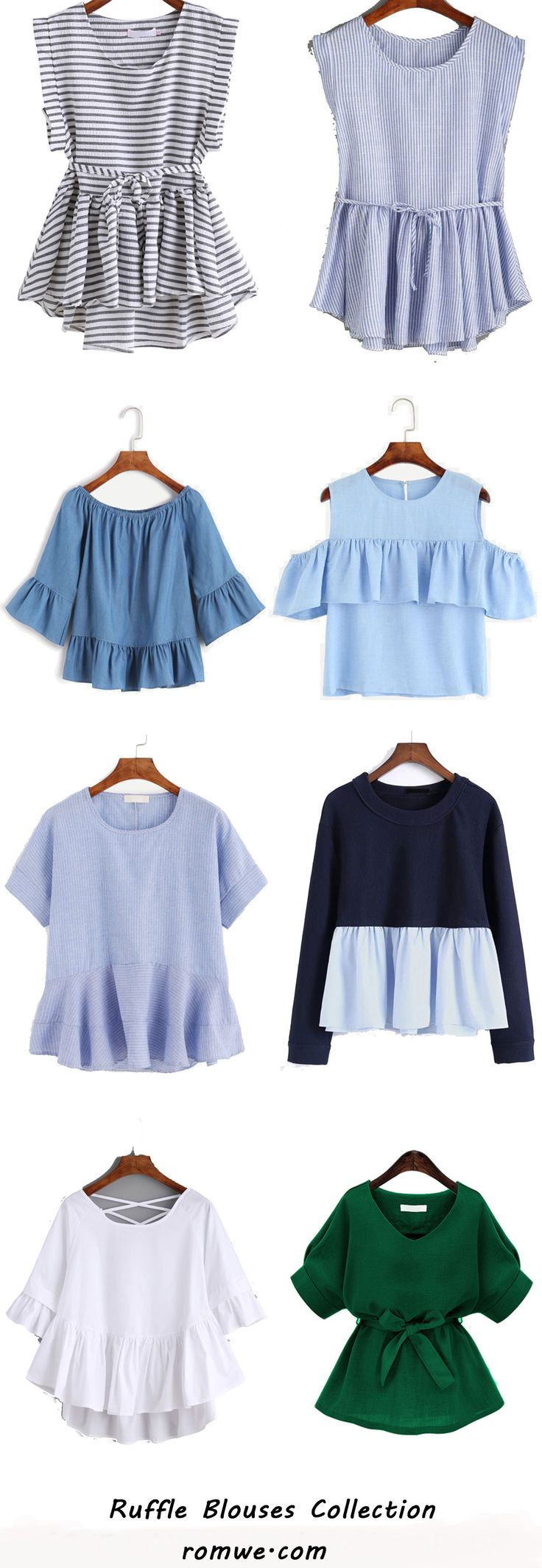 Cute Ruffle Blouses Collection - romwe.com
