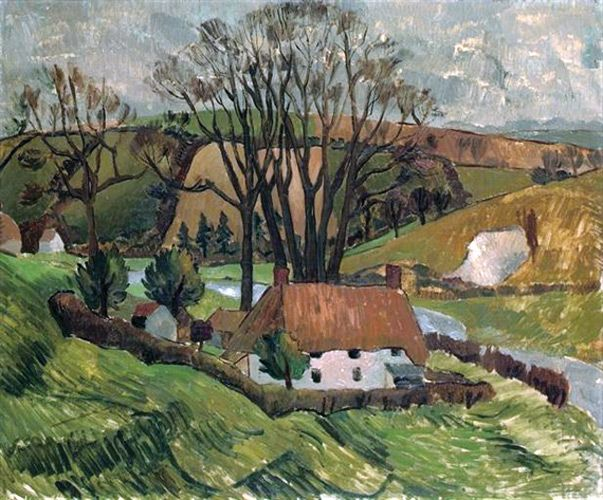 Cottage at Broadchalke, Wiltshire (1928), by Christopher Wood (1901-1930).