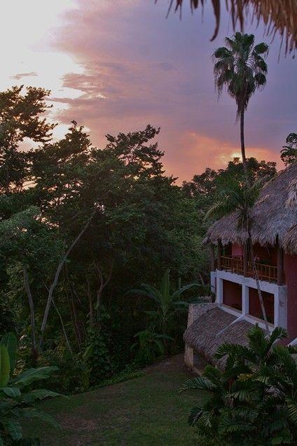 Sunset over Camino Real Tikal, Peten, Guatemala