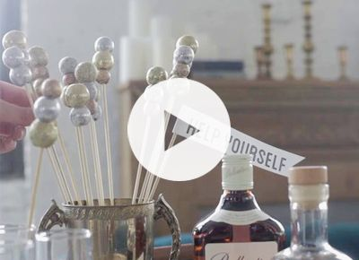 Holiday Cocktail Accessories You Can Make Yourself | Home + Garden | PureWow National