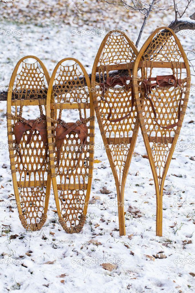 Bear Paw und Huron Schneeschuhe — Stockbild #14728581