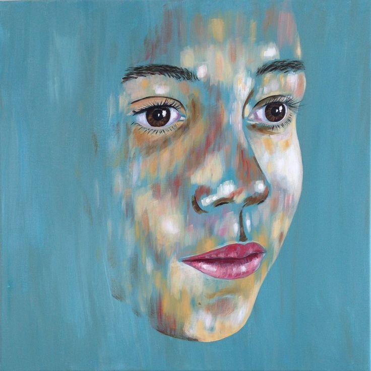 Nichtje Joy, acryl op doek, 60x60cm