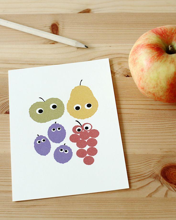 Postkarte HAPPY FRUITS