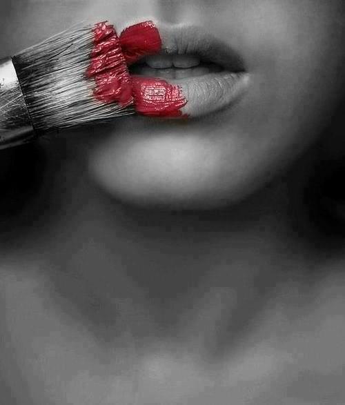 rote Lippen, wie