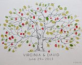 Medium Apple Tree Design, The original hand-drawn guest book fingerprint tree (ink pads sold separately)