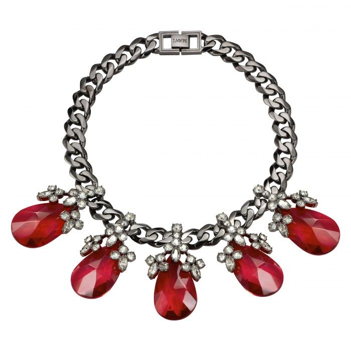 Teardrop Necklace with Crystal Blossoms | MAWI