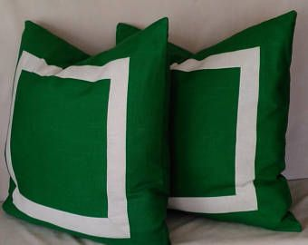green ivory euro sham pillow cover