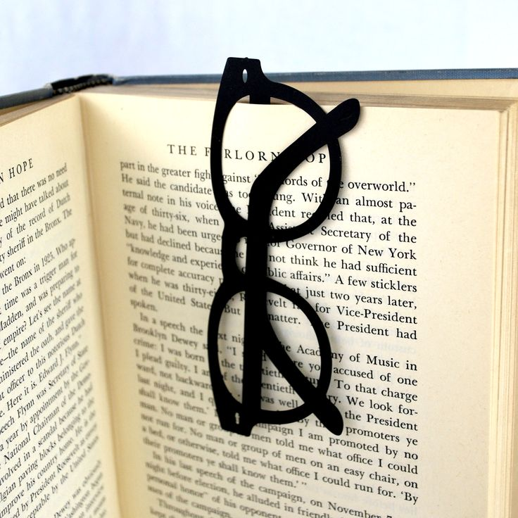 glasses bookmark die cut and engraved brass - Bookmark Design Ideas