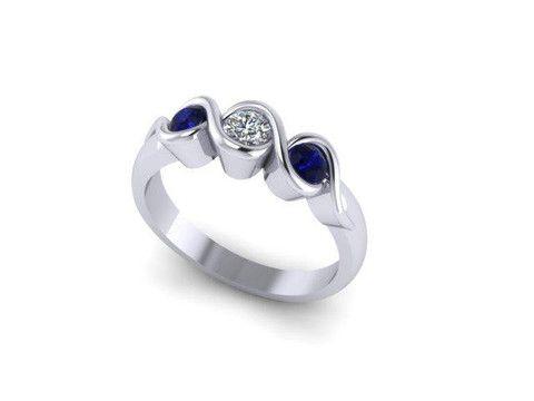 Custom Design Coloured Stone Ring