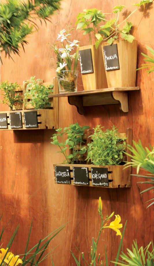 Fique Linda Gastando Pouco: {Decor} Jardim e Horta Vertical