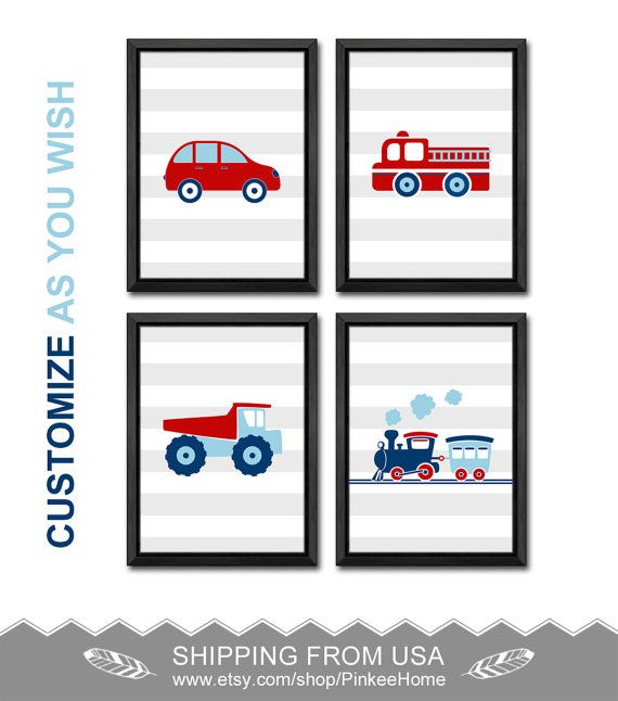 truck room decor train nursery car nursery decor truck baby boy room decor truck prints truck toddler room car little boy gifts baby boy