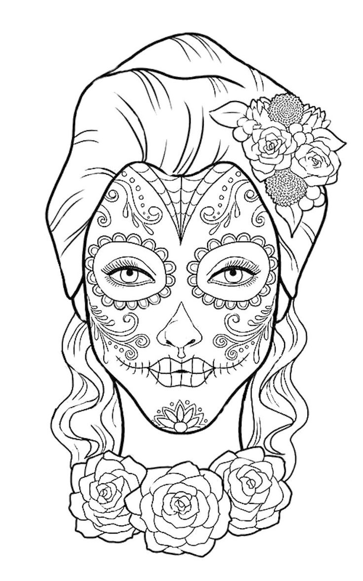 Day Of The Dead Coloring Page Spanish Class Ideas