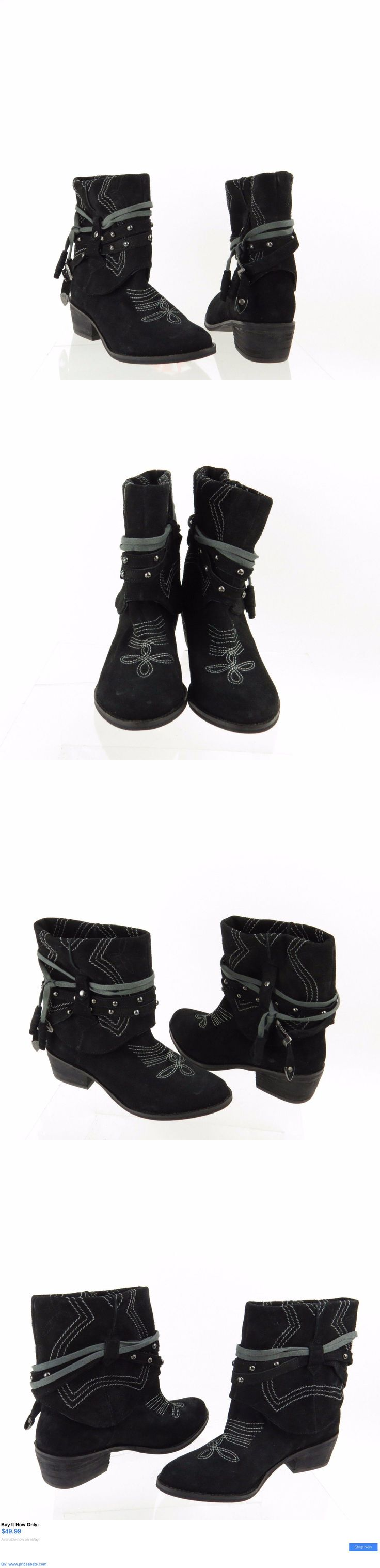 Women Boots: Womens Naughty Monkey Shoes Black Suede Short Ankle Boots Size 6 M New! BUY IT NOW ONLY: $49.99 #priceabateWomenBoots OR #priceabate