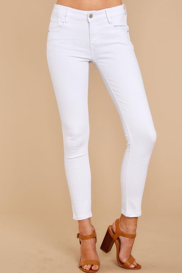 Halten Sie Es Weisse Rohrenjeans White Skinny Jeans White Skinny Pants Skinny Jeans Outfit