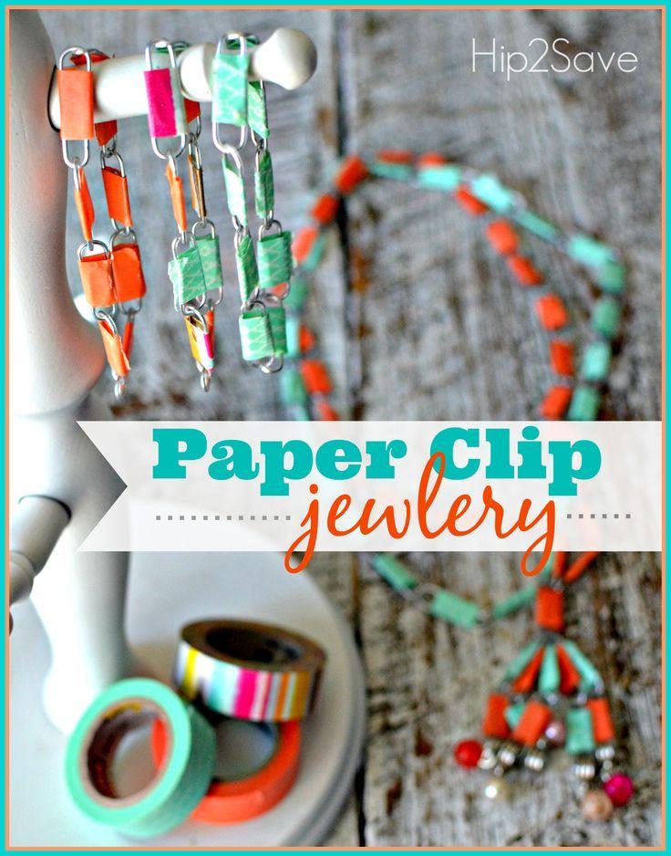 Paper Clip Jewelry (Fun Summer Break Craft) – Hip2Save