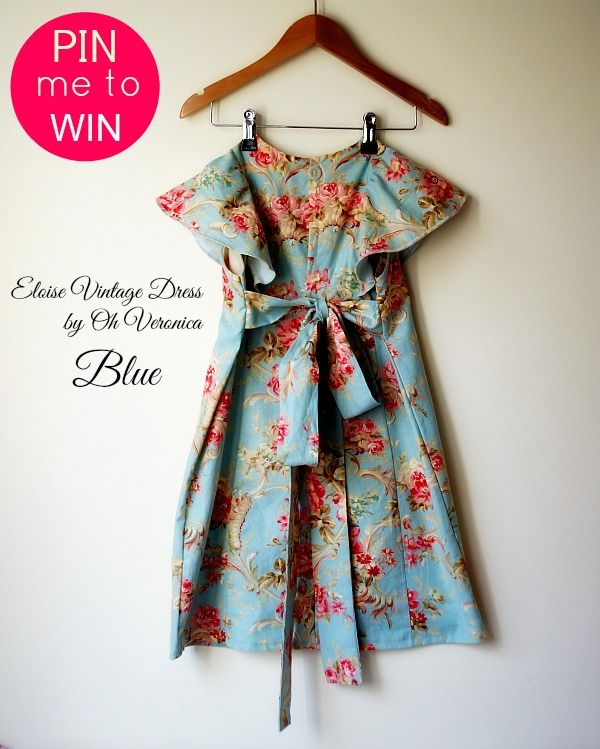 Repin this photograph to win a handmade Eloise Dress by www.ohveronica.com.au in any size from 2 - 10 years in either blue, butter or pink.  Ends 5th September.