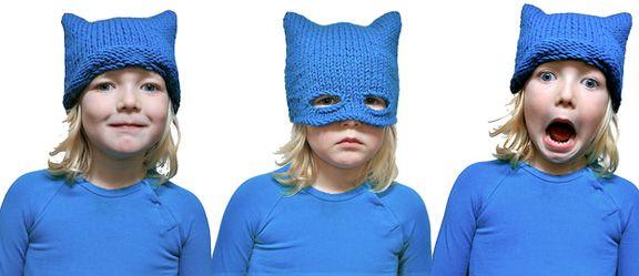tuto pour réaliser le bonnet de chat ou le bonnet de batman