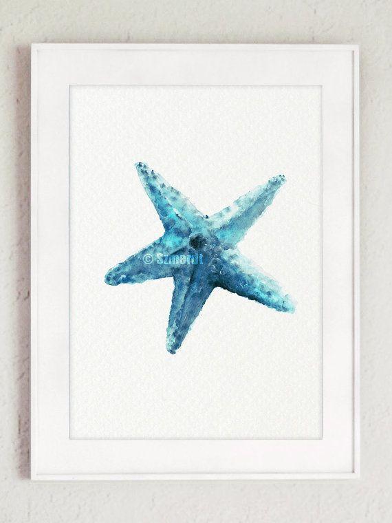 Ofrece y estrellas de mar de 2 decoración de la por ColorWatercolor