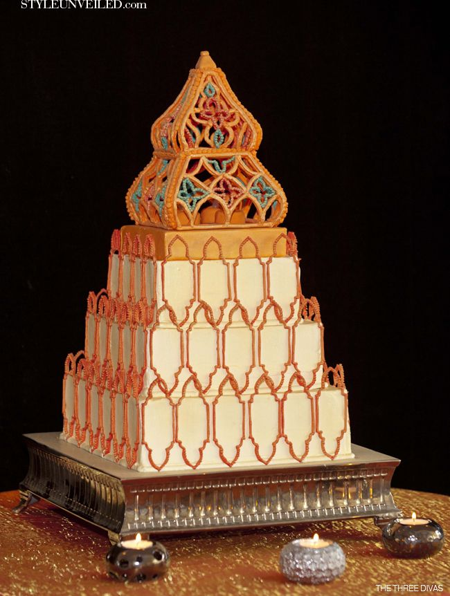 Moroccan Inspired Wedding Cake Islamic Pinterest
