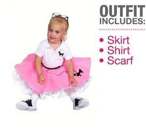 3 Pc 50s Poodle Skirt OUTFIT