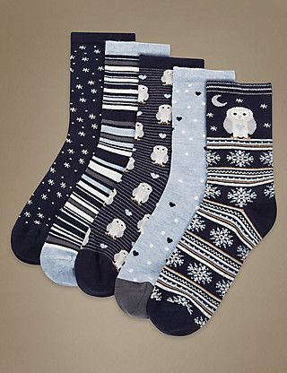 5 Pair Pack Supersoft Socks with Silver Technology | M&S