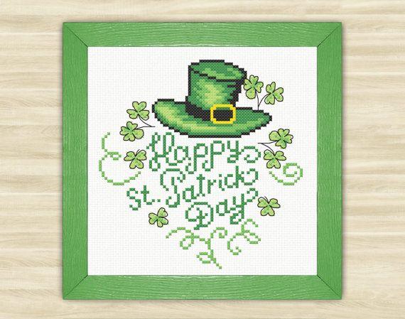 Happy St. Patrick Day Cross Stitch Pattern PDF by TimeForStitch