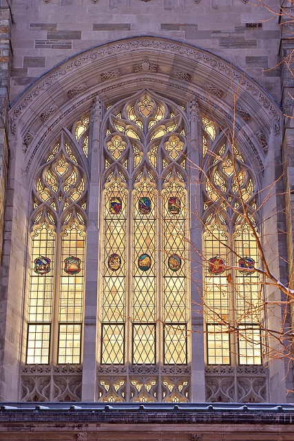 Window detail at Yale University, New Haven, Connecticut ...