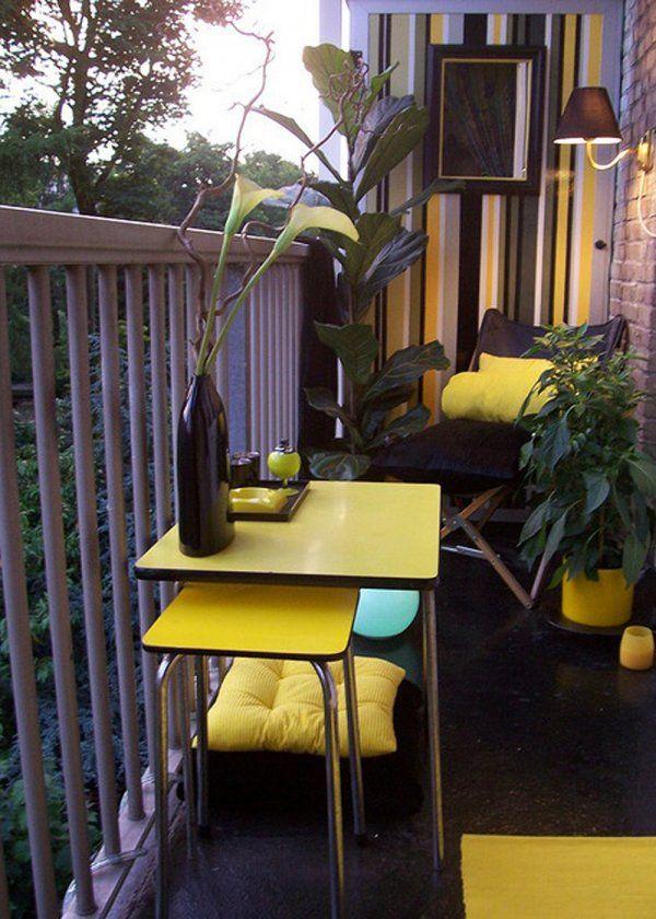De la couleur pour mon balcon - Marie Claire Maison . Balcony. Balcone. Outdoor Living