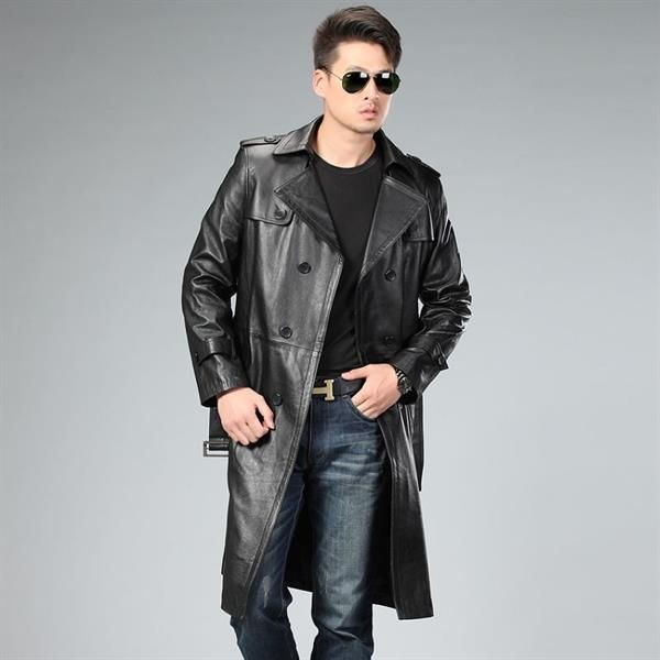 Кожаное пальто мужское большие размеры