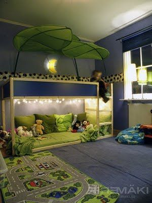 Floor bed for toddlers.  Different colors and style, but I like the idea.