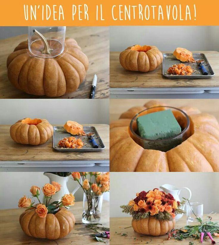 Oltre 1000 idee su creazioni con le zucche su pinterest - Centrotavola autunnale ...