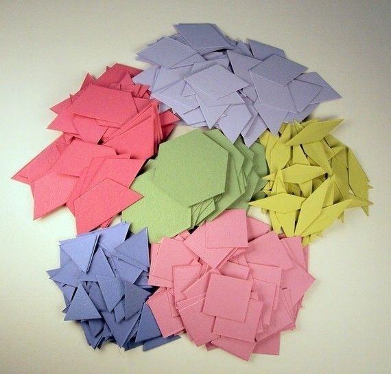 Math Can Be Beautiful -- 300 tessellating cardstock shapes