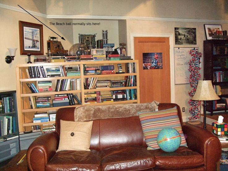Sofa And Bookcase Big Bang Theory Decorating Based On