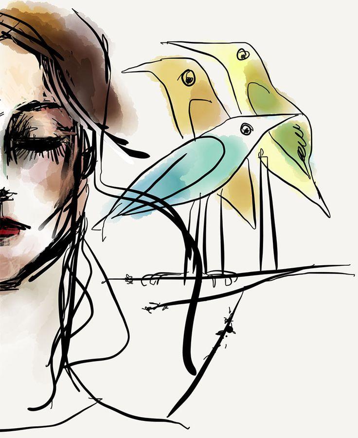 © Piroska Klesitz / - Madarak... / Three birds