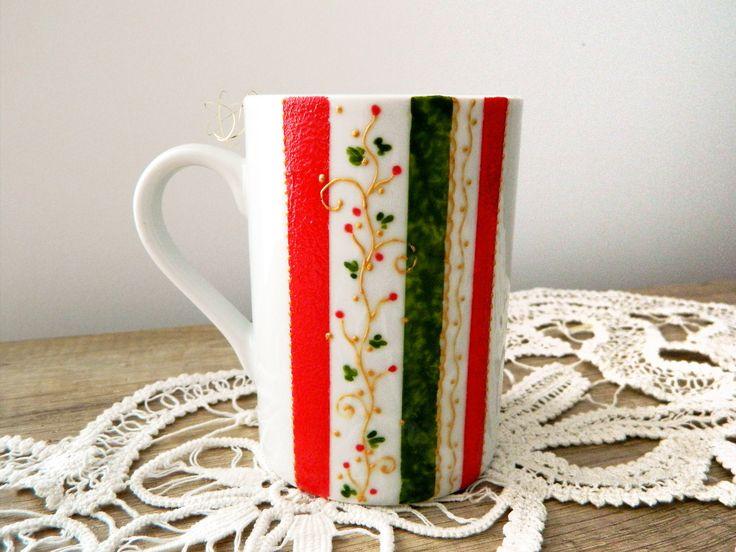 Hand painted Christmas mug!
