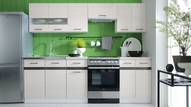 Complete Kitchen Set with Extra Cabinets | Kitchen Units JUNONA Larch Sibiu