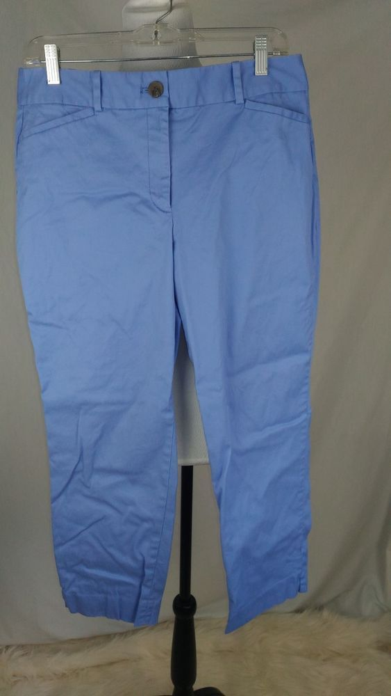 Talbots Women's 8 Curvy The Perfect Cropped Cotton Spandex Pants A05-05 #Talbots #CaprisCropped