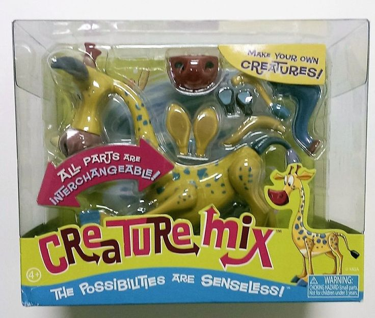"Creature Mix Toy Giraffe Madagascar MGM Interchangeable Parts 6.5"" NEW #MGMEntertainment"