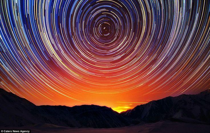 Cosmic Ballet Over Kazakhstan by OLga Kulakova via dailymail.co.uk #Olga_Kulakova#Photography #Astronomy Kazakhstan
