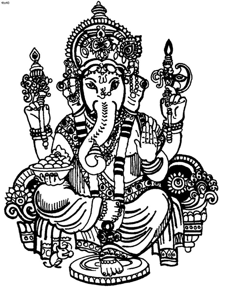 Ganesha Coloring Pages | all about India | Pinterest ...