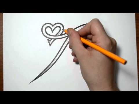 Letter Q and Heart Combined - Tattoo Design Ideas for Initials - YouTube
