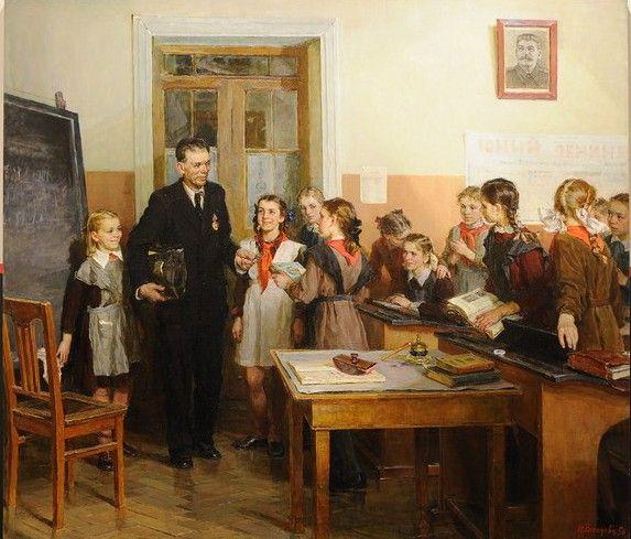 """""""Teacher Award / Награжденный учитель"""", 1950. Веселова Нина Леонидовна (1922-1960)"""