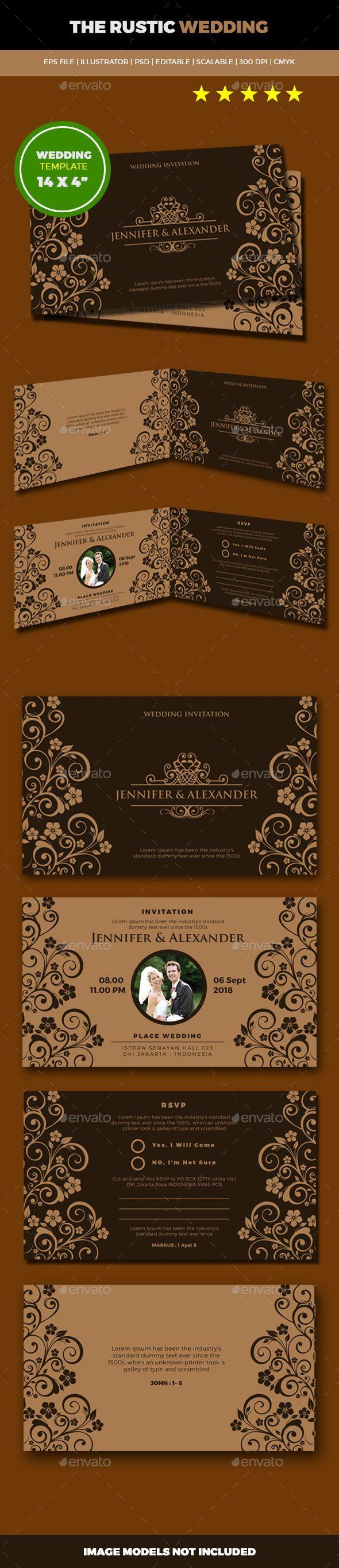 Rusticia Wedding Card