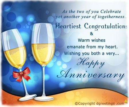 Anniversary wishes for your friends and family ..